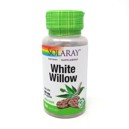 White Willow Bark 400 mg By Solaray - 100  Capsules