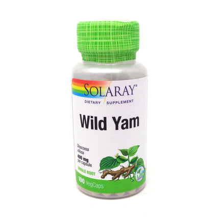 Wild Yam Root 400 mg By Solaray - 100  Capsules