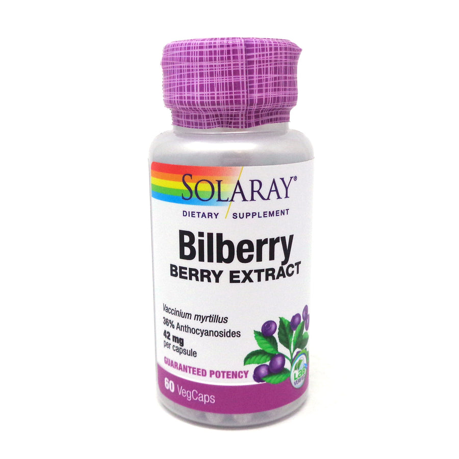 Bilberry Extract 42 mg By Solaray - 60  Capsules