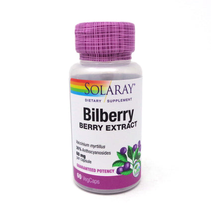 Bilberry Extract 60 mg by Solaray 60 Capsules