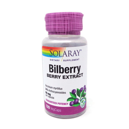 Bilberry Extract by Solaray - 120 Capsules