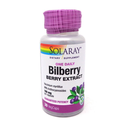 One Daily Bilberry 160mg By Solaray - 30 Capsules