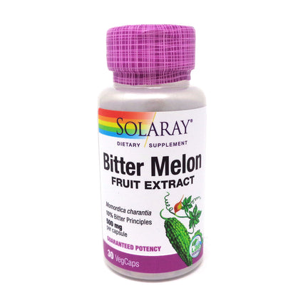 Bitter Melon Extract 500 mg By Solaray - 30 Capsules