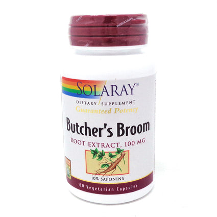 Butchers Broom Extract 100 mg By Solaray - 60  Capsules