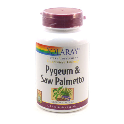 Pygeum and Saw Palmetto By Solaray - 120  Vegetable Caps