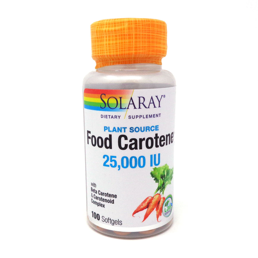 Food Carotene 25000 iu By Solaray - 100  Softgels