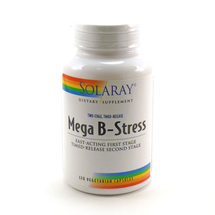 Two-Stage Mega B-Stress By Solaray - 120  Vegetable Caps