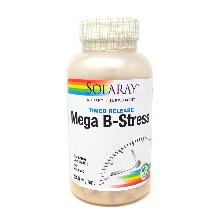 Two-Stage Mega B-Stress By Solaray - 240  Vegetable Caps