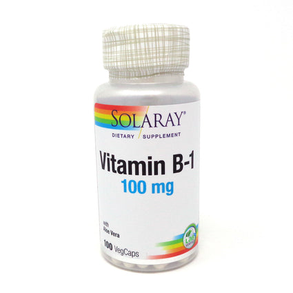 Vitamin B-1 100 mg by Solaray - 100 Capsules