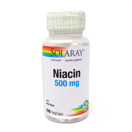 Niacin-500 500 mg By Solaray - 100  Capsules