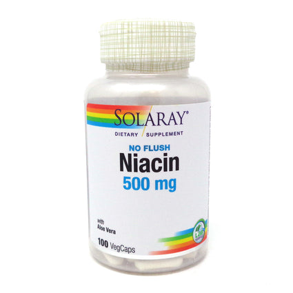 No Flush Niacin-500 500 mg By Solaray - 100  Vegetable Caps