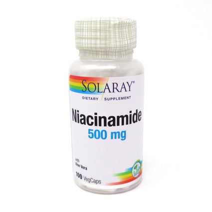 Niacinamide-500 500 mg By Solaray - 100  Capsules