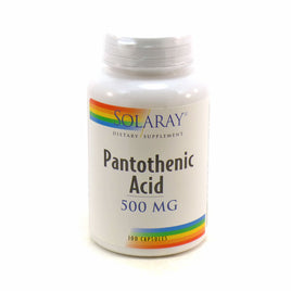 Pantothenic Acid-500 500 mg By Solaray - 100 Capsules
