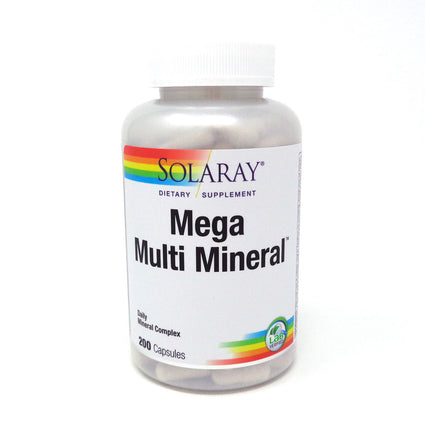 Mega Multi Mineral By Solaray - 200 Capsules Multivitamin