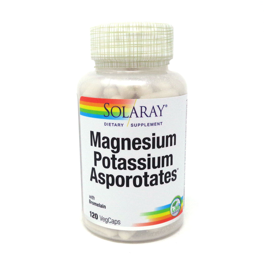 Magnesium and Potassium Asporotates with Bromelain By Solaray - 120 Capsules