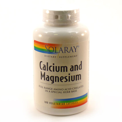 Calcium and Magnesium AAC By Solaray - 180 Capsules