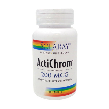 ActiChrom GTF Chromium III-200 200 mcg By Solaray - 100 Tablets