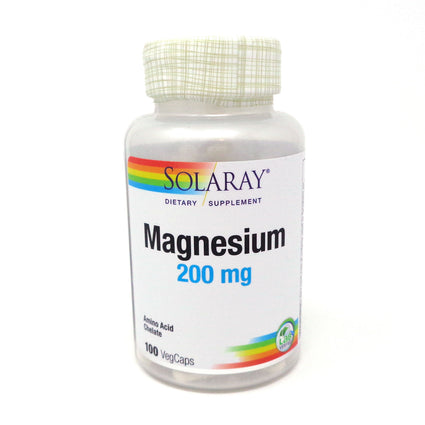Magnesium AAC 200 mg By Solaray - 100  Capsules