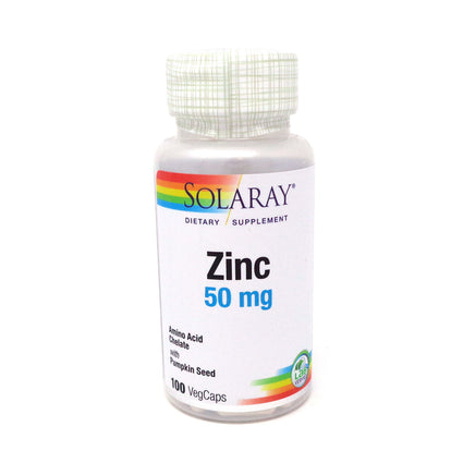 Zinc-50 50 mg By Solaray - 100 Capsules