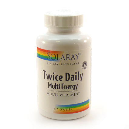 Twice Daily Multi Energy By Solaray - 120 Capsules
