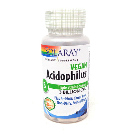 Acidophilus plus carrot juice 3 bil By Solaray - 30  Capsules