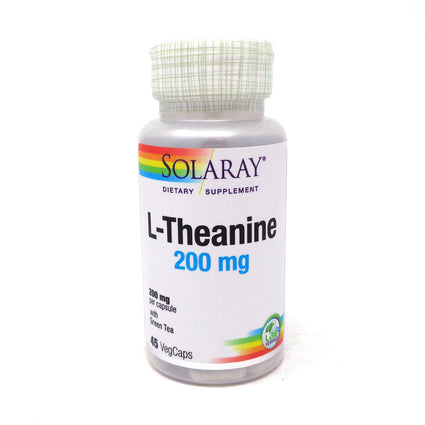L-Theanine 200 mg 200 mg By Solaray - 45  Vegetable Caps