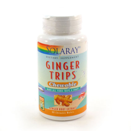Ginger Trips Chewable Ginger Molasses 67 mg By Solaray - 60 Chewables