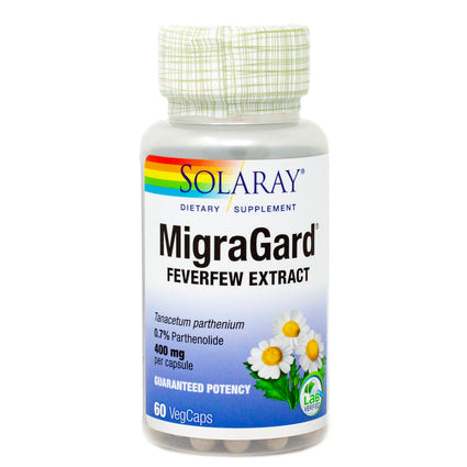 MigraGard  Feverfew Extract 400 mg By Solaray - 60  Capsules