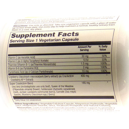 Super CranActin By Solaray - 120 Capsules Cranberry