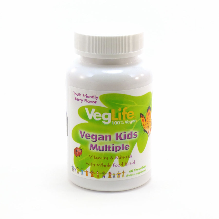 Vegan Kids Multiple Berry Flavor By VegLife - 60 Chewables