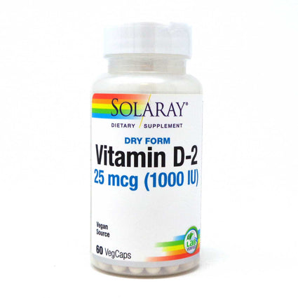 Dry Vitamin D 1000IU 1000 iu By Solaray - 60  Vegetable Caps