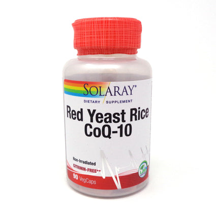 Red Yeast Rice plus CoQ10 600 mg/ 30 mg By Solaray - 90  Vegetable Caps