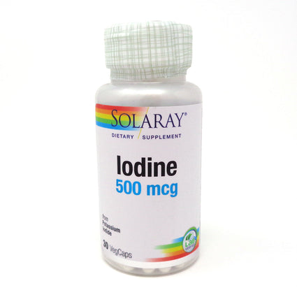 Iodine 500mcg By Solaray - 30 Capsules
