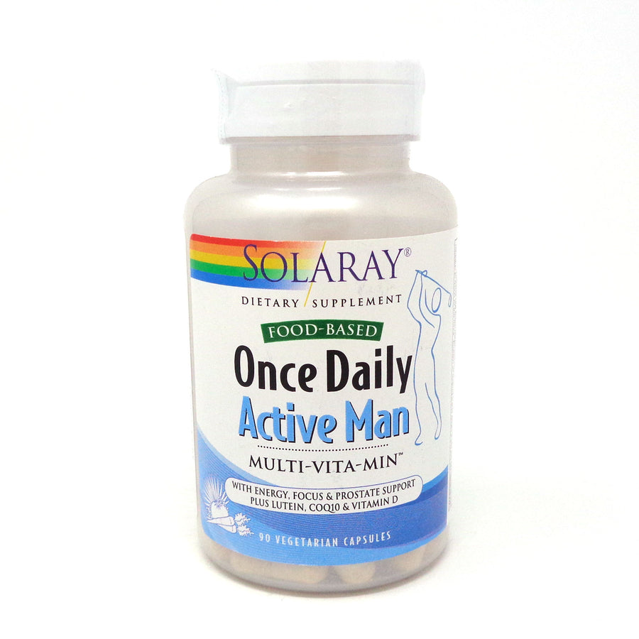 Solaray Once Daily Active Man Veg Cap (Btl-Plastic) 90ct