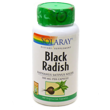 Black Radish 500 MG  by Solaray - 100 Capsules