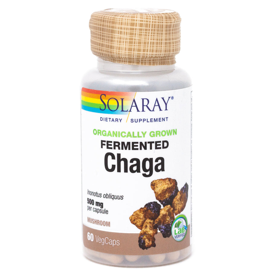 Chaga Mushroom Organically Grown By Solaray - 60 Capsules
