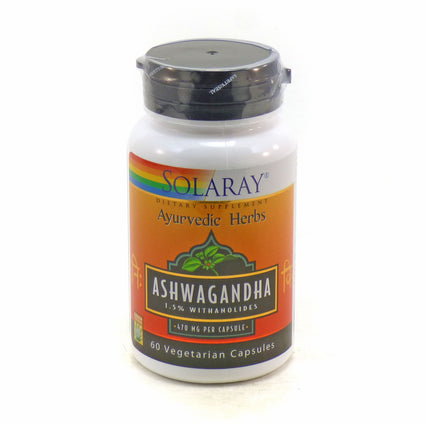 Ashwagandha Root Extract 470 mg By Solaray - 60  Vegetable Caps