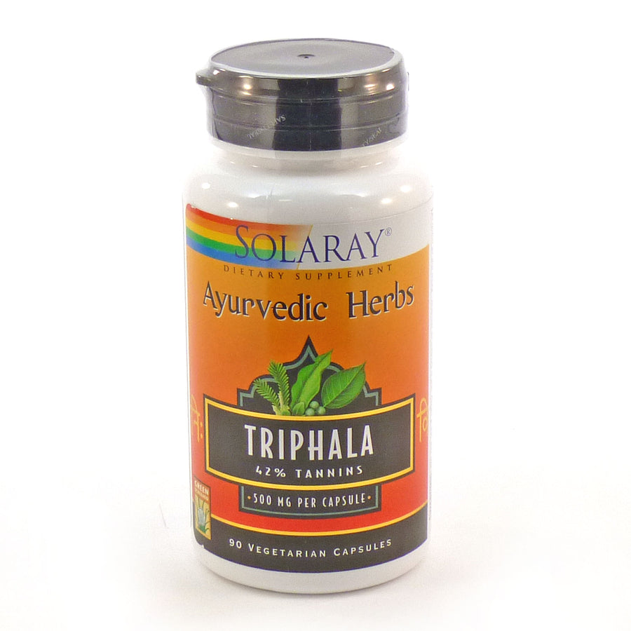 Triphala Extract 500 mg By Solaray - 90 Capsules