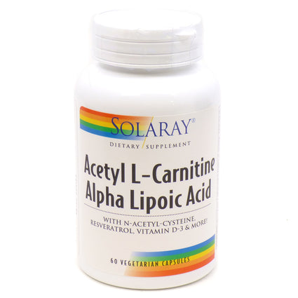 Acetyl L Carnitine Alpha Lipoic Acid  by Solaray - 60 Capsules