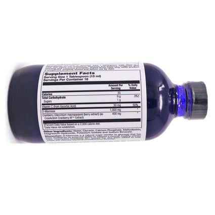 D-Mannose With Cranactin By Solaray - 8 Ounces Actin Exract Liquid