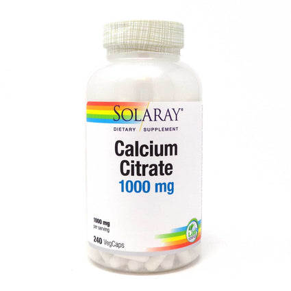 Calcium Citrate 250 mg By Solaray - 240 Vegetable Caps