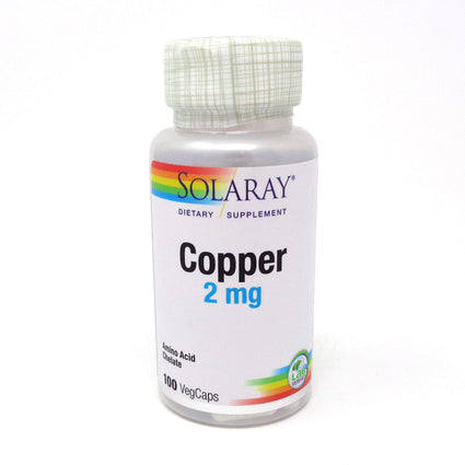 Copper 2 mg By Solaray - 100 Capsules