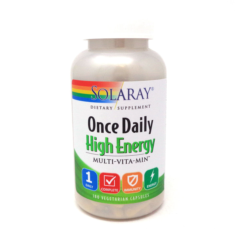 Once Daily High Energy By Solaray - 180  Capsules