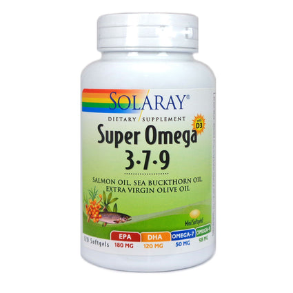 Solaray Super Omega 3-7-9 Softgel (Btl-Plastic) 120ct