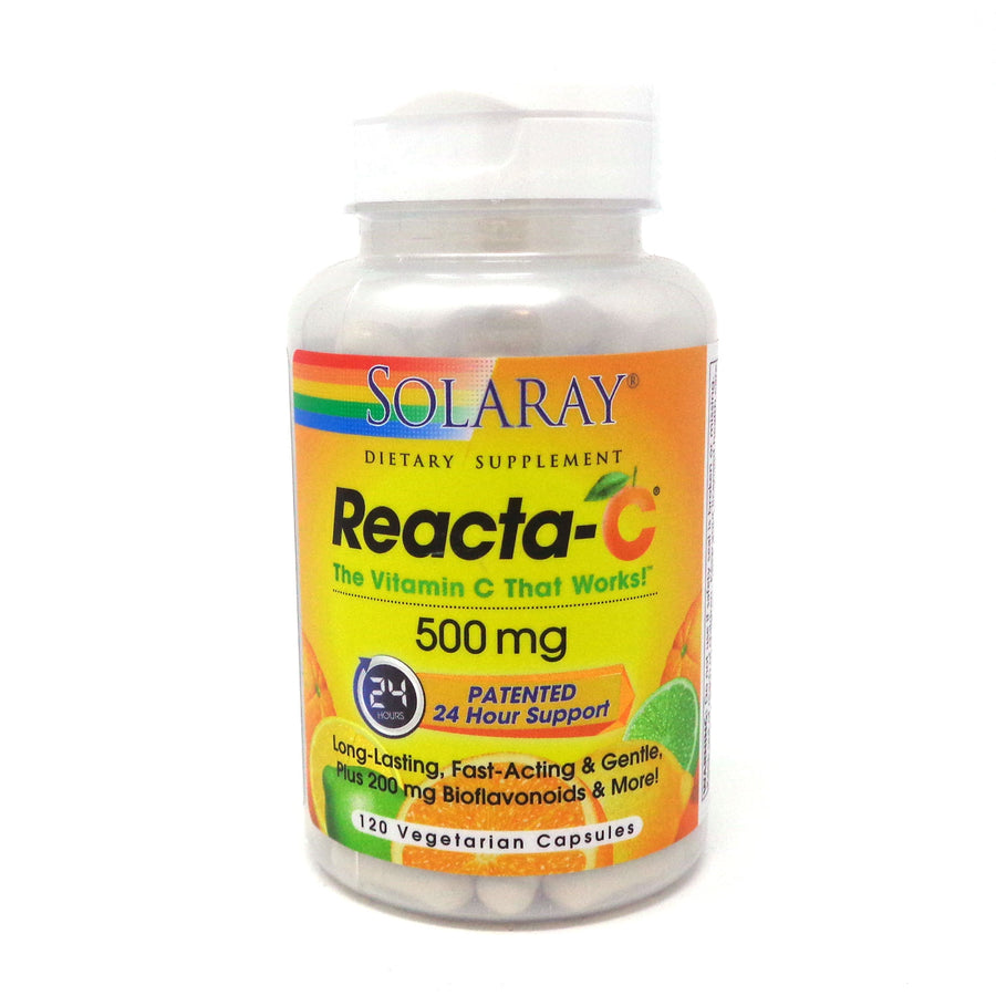 Reacta-C with Bioflavonoids 500 mg by Solaray - 120 Capsules