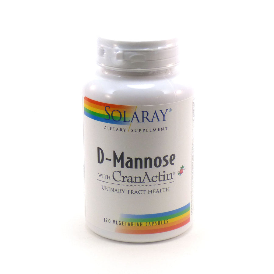 D-Mannose with Cranactin By Solaray - 120 Veg Capsules