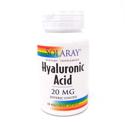 Hyaluronic Acid 20 mg By Solaray - 30  Vegetable Caps