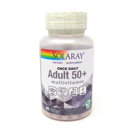 Solaray Once Daily Multiple 50+ for Adults Veg Cap (Btl-Plastic) 90ct