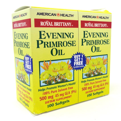 American Health Evening Primrose Oil 500 mg - 2 X 100 Softgels