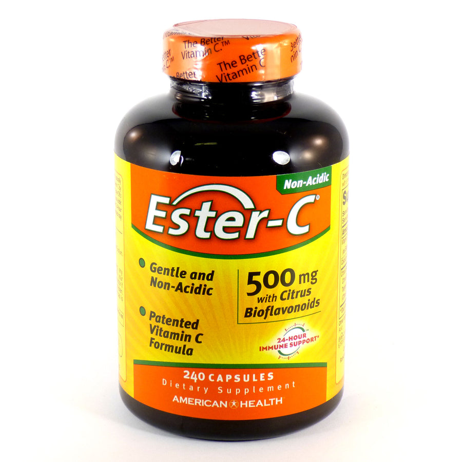 Ester-C 500mg With Bioflavonoids by American Health - 240 Capsules
